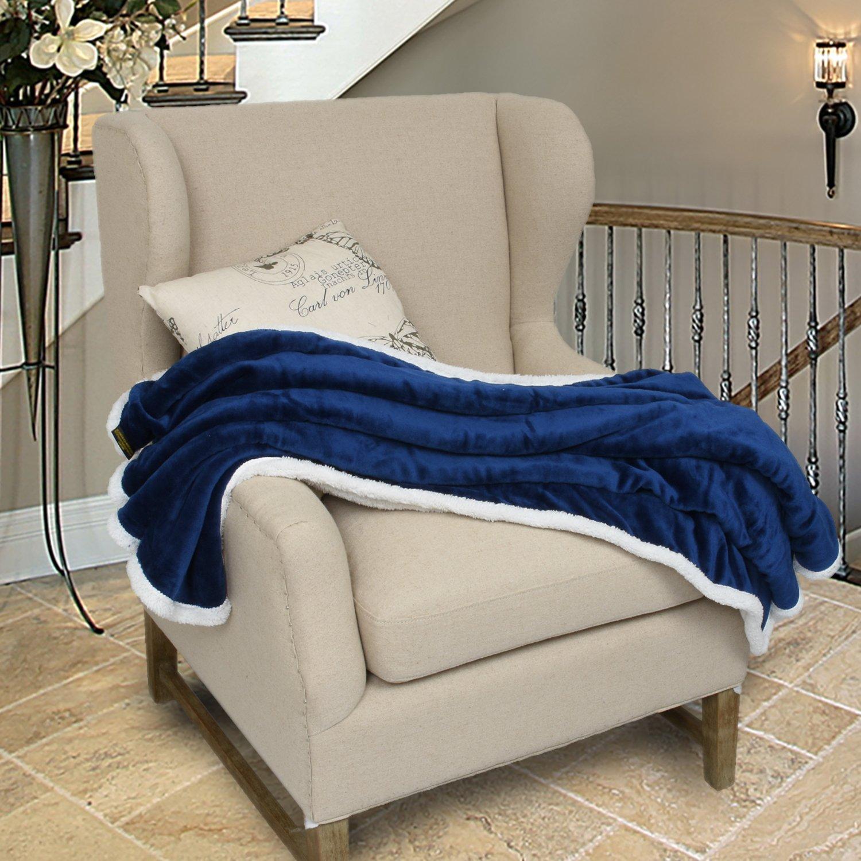 Mink Fleece Blanket, Reversible Sherpa Throw Large for Sofa Bed, Super Soft All Season Comfort Caring Gift, 127cm x 152cm (50\