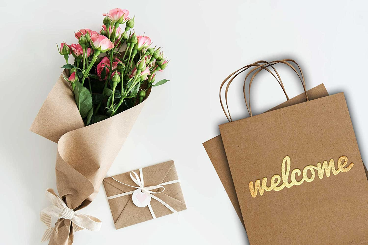 Amazon.com: Merry Expressions - Wedding Welcome Gift Bags - 25 Bulk ...