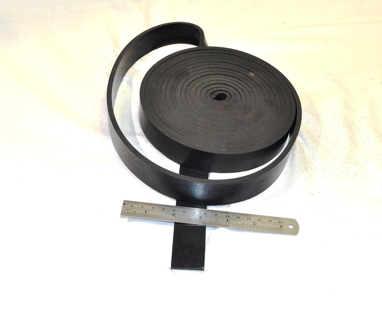 Neopren massiv aus schwarzem Gummi Gummileiste 20 mm breit x 8 mm dick x 5 M lang