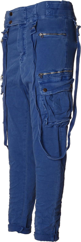 Basic.de Melly CO 8161 Pantalones de Deporte con Tira de Botones y Tirantes
