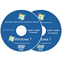 Windows Recovery for Windows 7 Install Reinstall Recovery Repair Disk for 32 & 64-Bit PC Systems + Automatic Drivers 2018 Installation 2 DVD Set | Home Basic Premium & Professional Ultimate