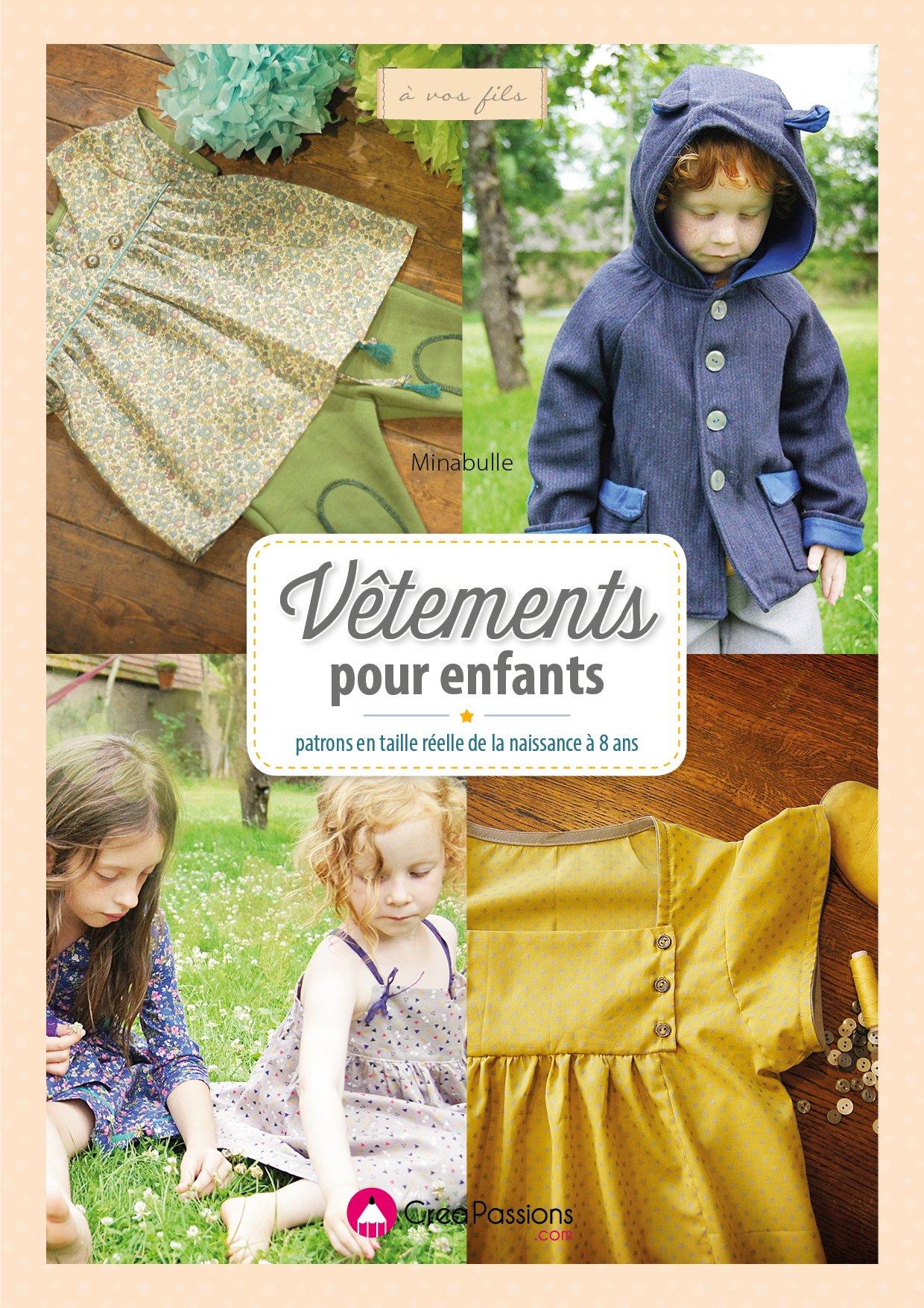 livre de couture - vêtements pour enfants 0 à 8 ans - garçon et fille