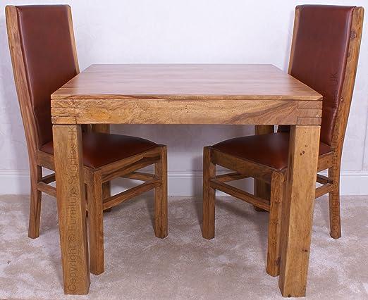 Divine 90 x 90 cm mesa de comedor/con o sin sillas – fabricado con ...