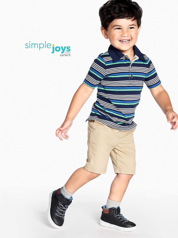 Simple Joys by Carters paquete de 3 polos de manga corta para ni/ños peque/ños