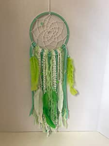 Dream catcher, Boho, mint green, wall hanging, wall decor, room decor, kids room, gift, ethnic