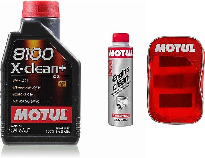1 Liter 106376 Motul 8100 X Clean 5w 30 Öl Motoröl 300ml Engine Clean Tasche Auto