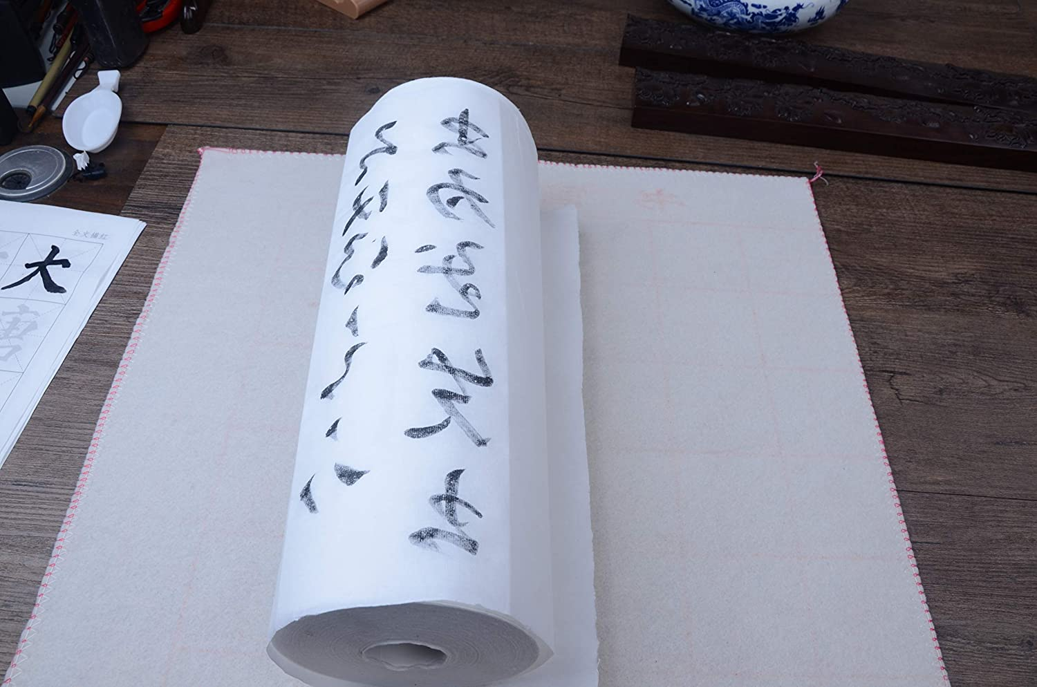 Tianjintang Japanese Chinese Sumi Ink Brush Writing Painting Calligraphy Rice Paper 100Sheets 34x138cm