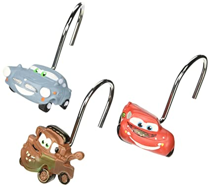 Amazon Disney Pixar Cars Set Of 12 Shower Curtain Hooks Home