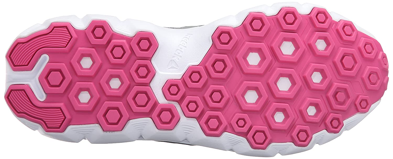 Amazon.com | Reebok Womens Hexaffect Run 4.0 MU MTM Walking Shoe Flat Grey/Poison Pink/Rose Rage/White/Solar Yellow 6 M US | Walking