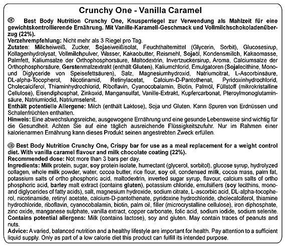 Best Body Nutrition Crunchy One Vanilla Caramel - 60 gr: Amazon.es: Salud y cuidado personal