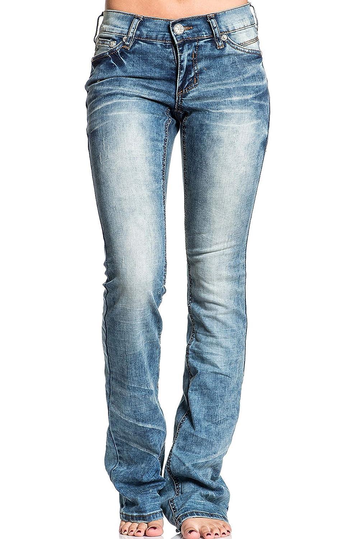 Amazon.com: Affliction Jade - Pantalones vaqueros para mujer ...