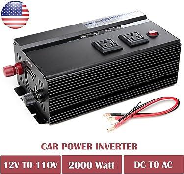 2000//4000W 12v DC TO 110v AC car truck automotive POWER INVERTER Digital Display