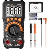 TACKLIFE Multimeter, DM08 Advanced Digital Auto Range Multi Tester True RMS 2000 Counts Battery Tester AC/DC Voltage and Current, Continuity, Resistance, Diodes Test with NCV and Data Retention