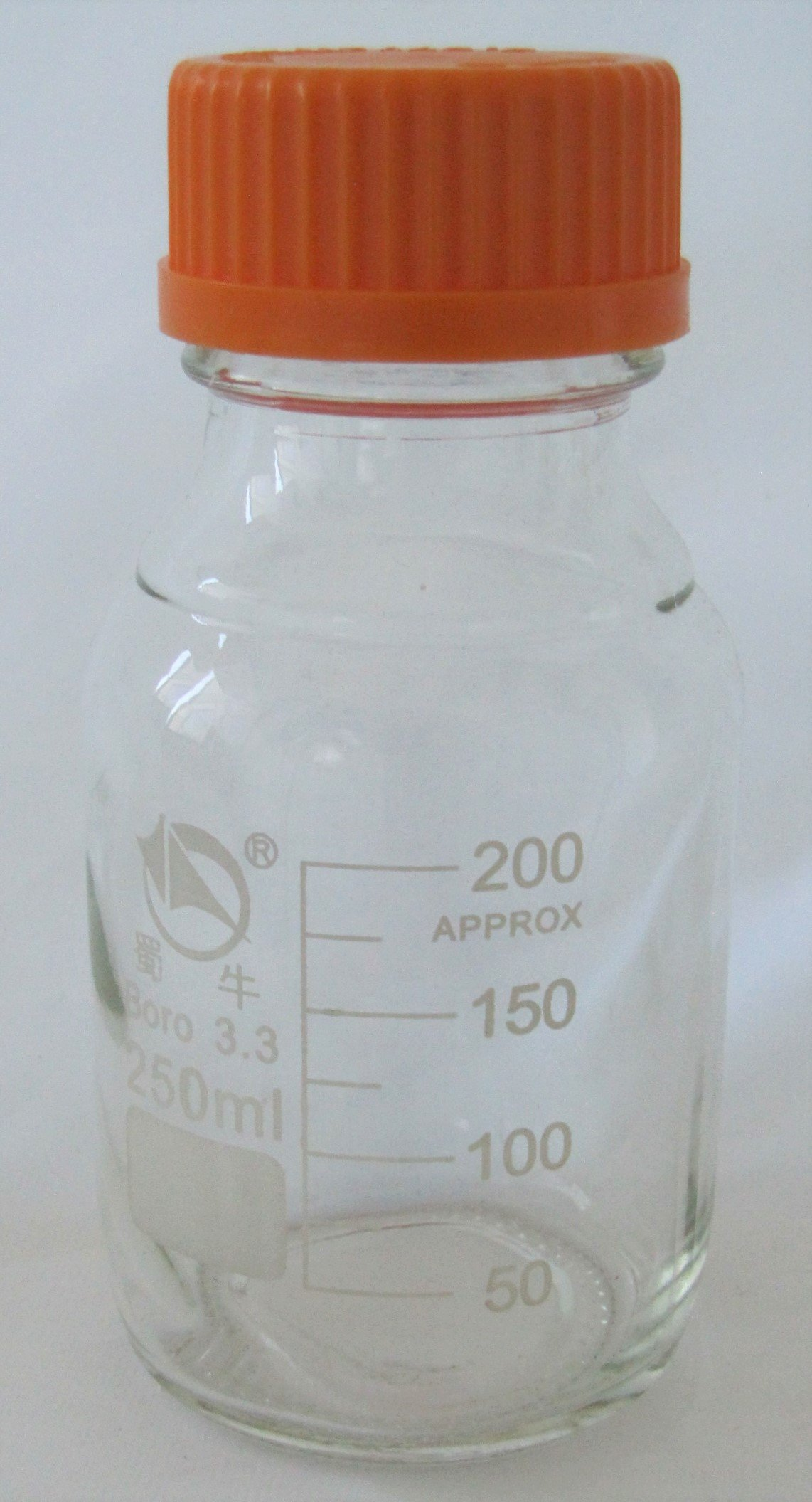 Borosilicate Glass Round Lab Media Storage Bottles, Tissue Culture Media Bottle, with Cap, Autoclavable (500 ml)