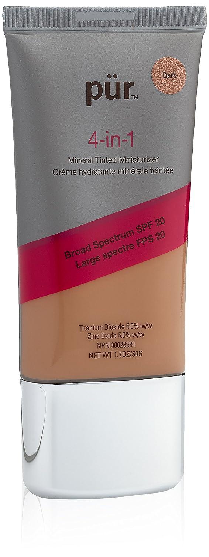 PurMinerals PUR Minerals 4-in-1 Tinted Moisturizer Dark Model in a Bottle Super Gentle Eye Makeup Remover,