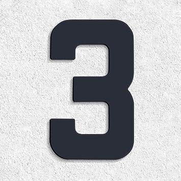 Moderne Hausnummern Edelstahl thorwa moderne design edelstahl hausnummer 3 future stil anthrazit