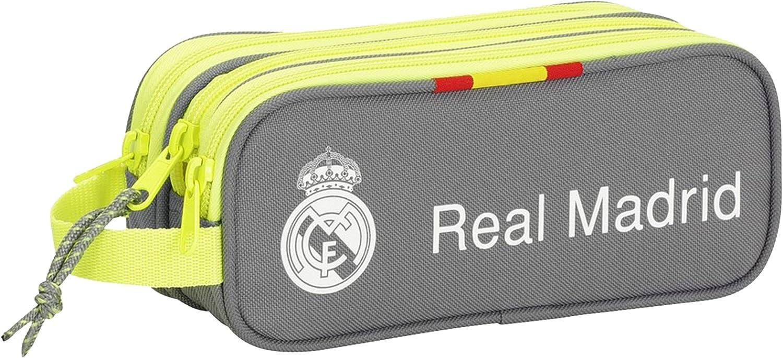 Real Madrid - Portatodo Triple, 21 x 9 x 7 cm (SAFTA 811554635): Amazon.es: Equipaje