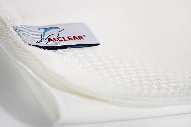 sans produit chimique 40 x 45 cm Alclear 950006w Chiffon microfibres Star pour faire disparaitre les t/âches de calcaire Blanc
