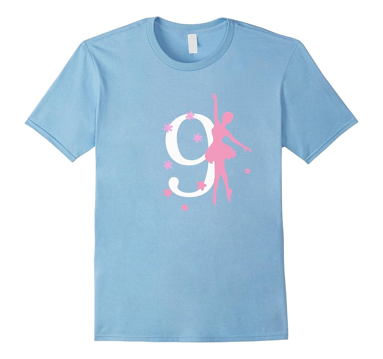 9 Birthday Ballerina Birthday T-shirt-CD