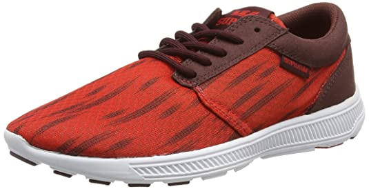Supra Hammer, Sneakers Basses Mixte Adulte - Rouge (Red - Red Red), 45 EU