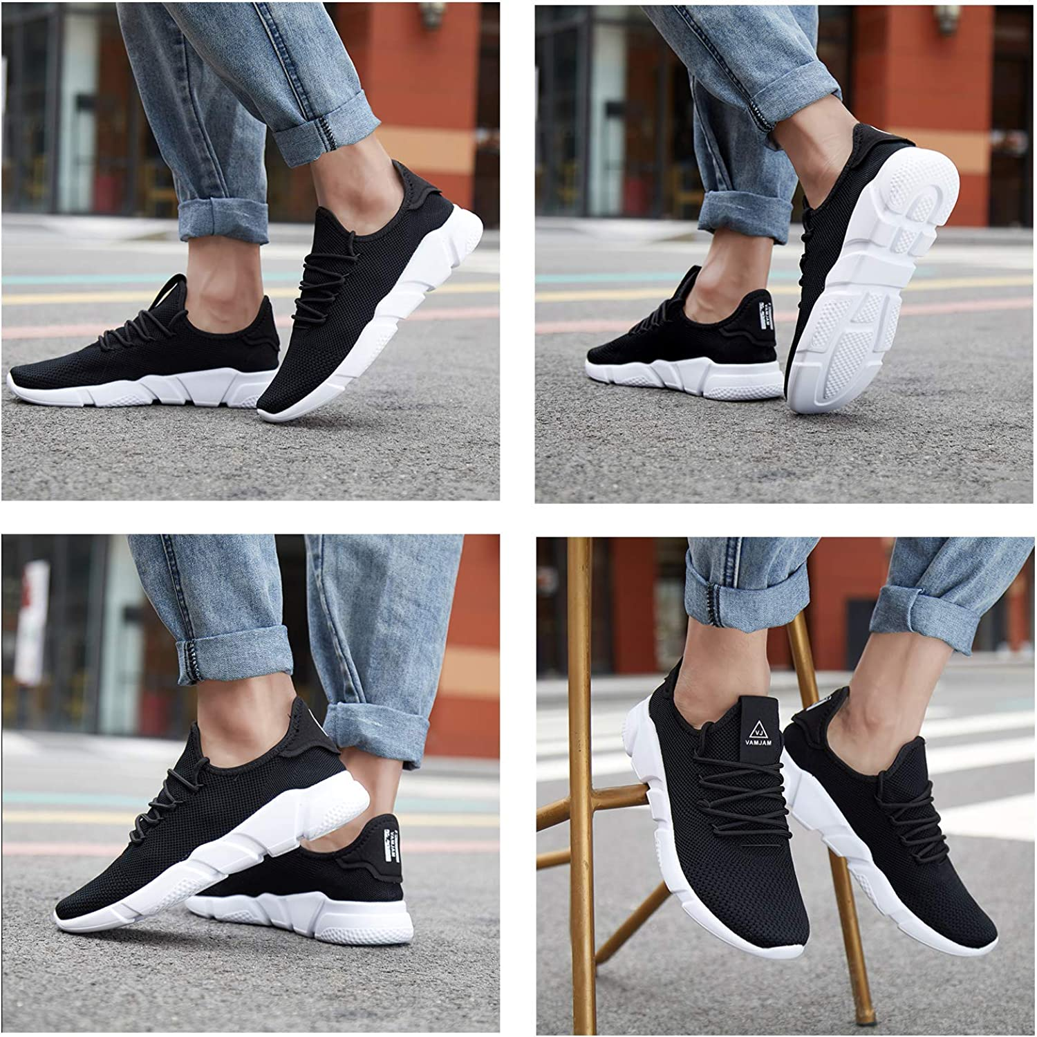 A-PIE Mens Running Athletic Shoes Breathable Lightweight Fashion Sneakers Casual Walking Shoes