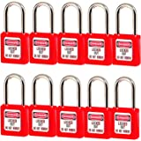 Lockout Tagout Locks, Safety Padlock, Keyed Differently Loto Safety Padlocks for Lock Out Tag Out ,10 PCS with Number (Red 1-