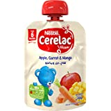 Nestle Cerelac Fruits & Vegetables Puree Pouch Apple Carrot Mango, 90g