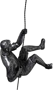 Distressed Black and Silver Wall Climbing Wall Art - Rappelling Man Wall Sculpture Hanging Wall Art Decor - Unique Wall Sculptures - 7