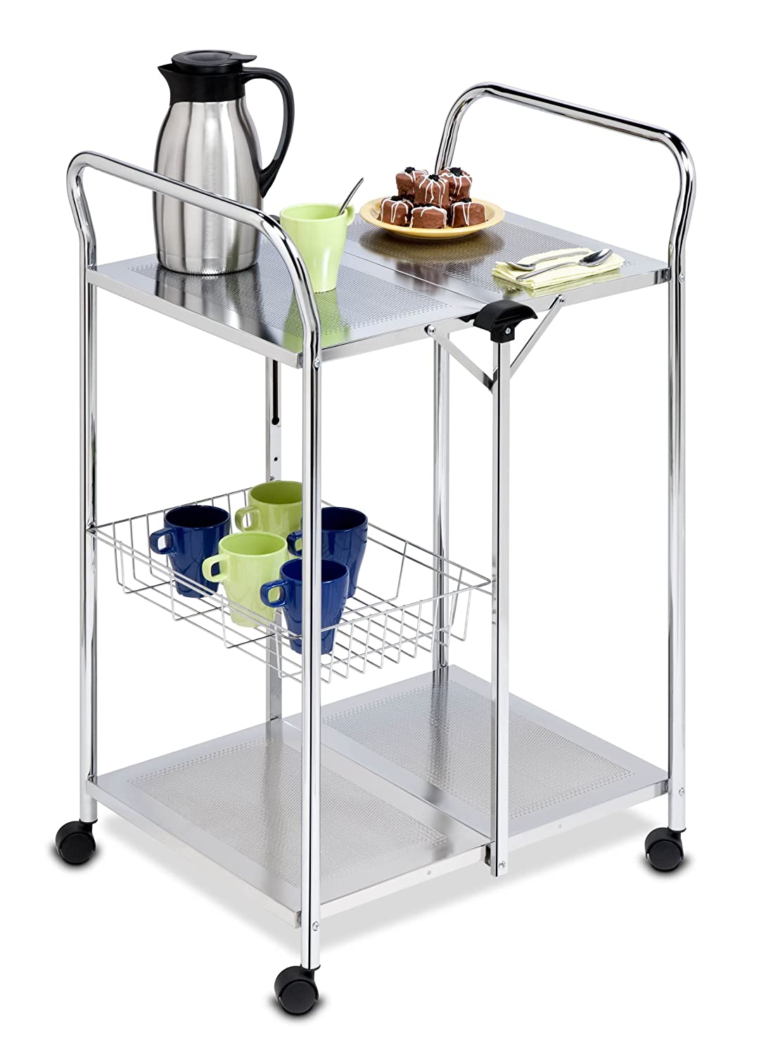 Amazon Honey Can Do CRT Chrome Folding Utility Table