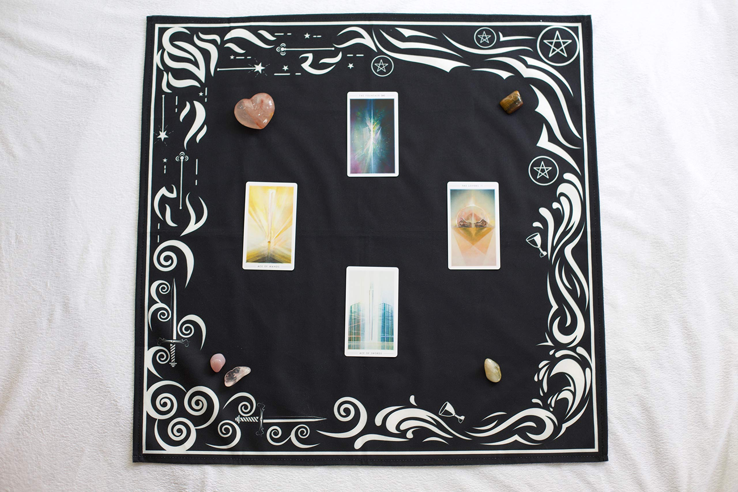 Tarot Cloth and Moon Tapestry Bundle by Hidden Crystal Tarot (Image #4)