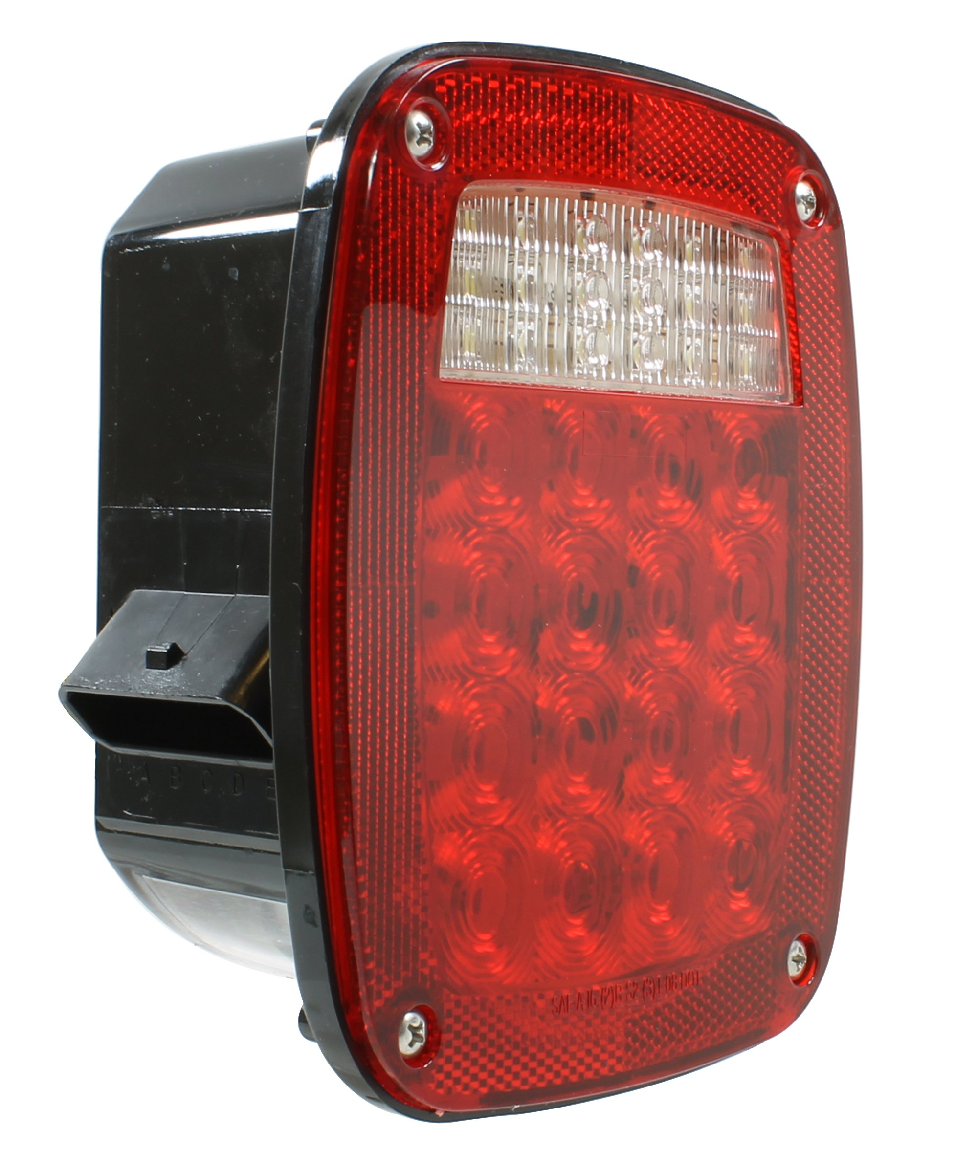 Vehicle Safety Manufacturing 5023LED Red 3-Stud Box Lamp with Double Metri-Pack Connectors