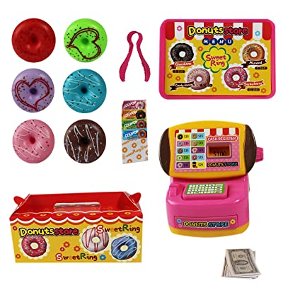 P&F Pretend Play Dream Donuts Store Shop with Mini-Cash Register, Toy Donuts & Accessories: Toys & Games