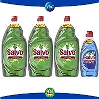 Salvo lavatrastes líquido concentrado limón 4.2 L + Salvo Power Clean 300 ml