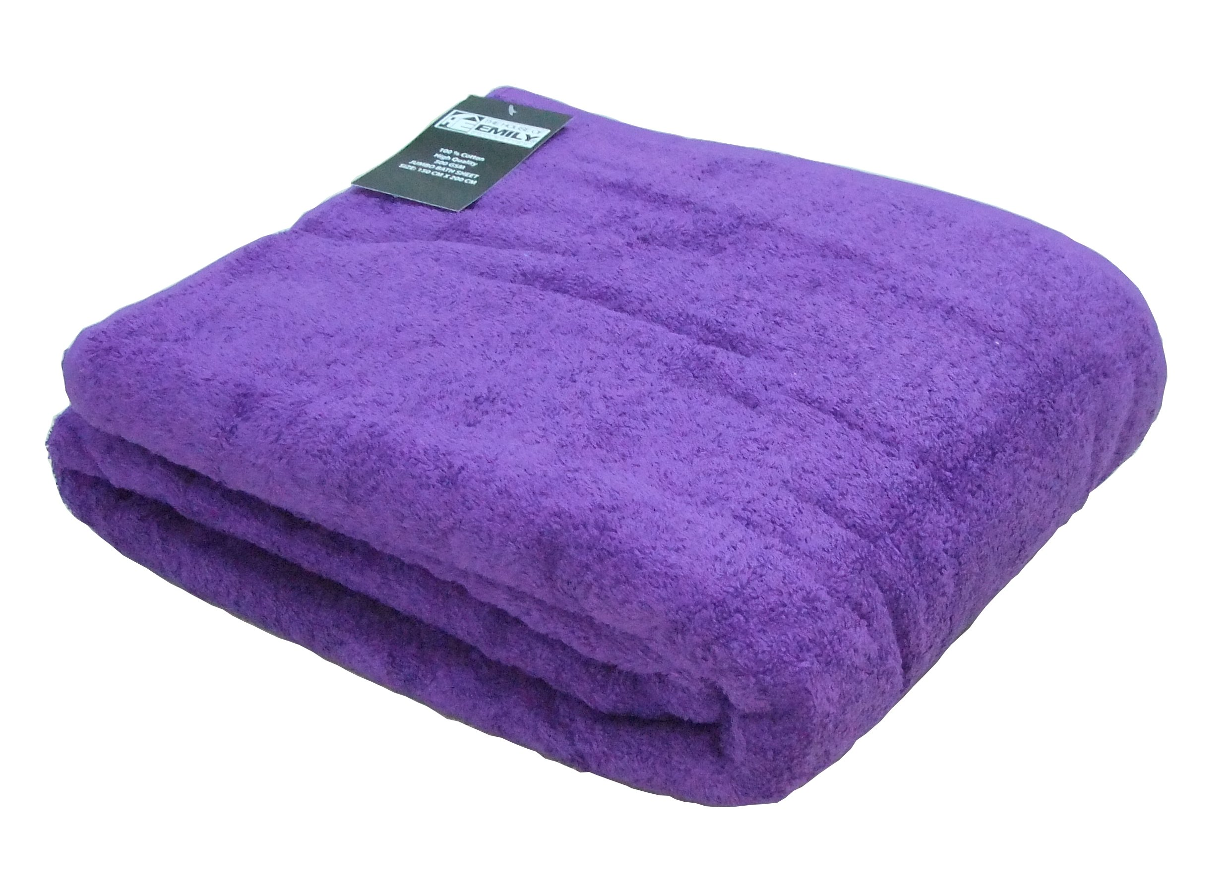 The House Of Emily Massive/Huge/Extra Large 100% Turkish Cotton Bath Sheet/Beach Towel - 60 x 80 Inch - Royal Lilac
