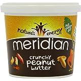 Meridian - Mantequilla de cacahuete crujiente, ingredientes naturales, sin sal, 1 Kg
