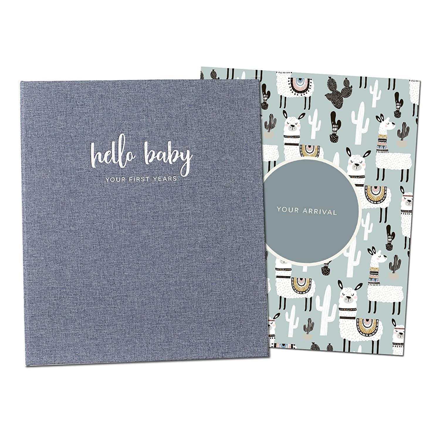 Minimalist Baby Memory Book | Keepsake Milestone Journal | LGBTQ Friendly | 9.75 x 11.25 In. 60 pages | Perfect Baby Shower Gift Peachly