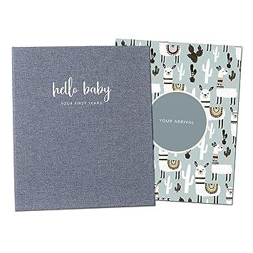 Amazon.com: Libro de recuerdos minimalista para bebé, diario ...