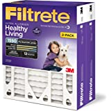 Filtrete MPR 1550 16 x 25 x 4 (4-3/8 Actual Depth) Healthy Living Ultra Allergen Deep Pleat AC Furnace Air Filter, Delivers Cleaner Air Throughout Your Home, 2-Pack