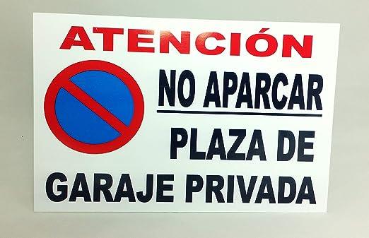 Marina Signboards Cartel Metal 30x20 cm No Aparcar Plaza de ...