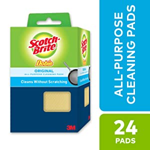 Scotch-Brite Dobie All-Purpose Cleaning Pads, Scours without Scratching, 24 Pads