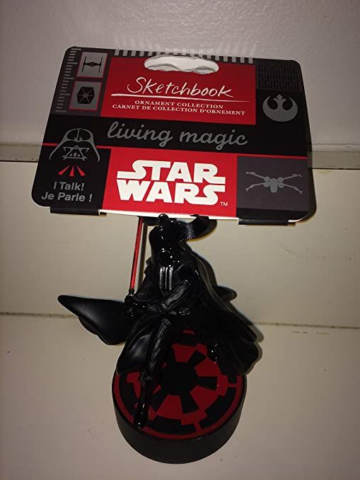 Amazon.com: 2018 Disney Star Wars Darth Vader Sketchbook Talking & Sound Effects Electronic Ornament: Home & Kitchen