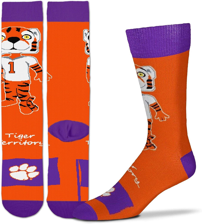NCAA Mens Mascott Flag Dress Crew Socks For Bare Feet