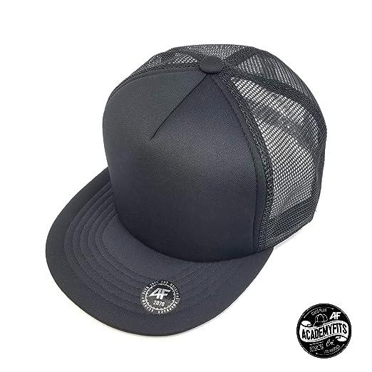 a084de0202 AcademyFits 5 Panel High Crown Nylon Trucker Mesh Hat Snapback Men Women  Unisex Waterproof Blank Cap