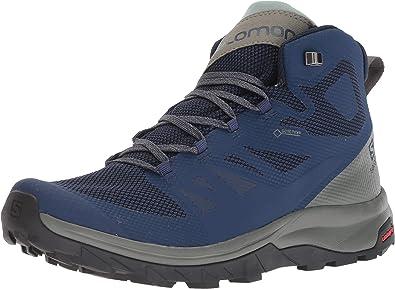 SALOMON Shoes Outline Mid GTX Medieval B/Castor, Zapatillas de montaña para  Hombre