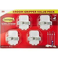 Command 17007BGVP Broom Gripper Value Pack, White/Grey