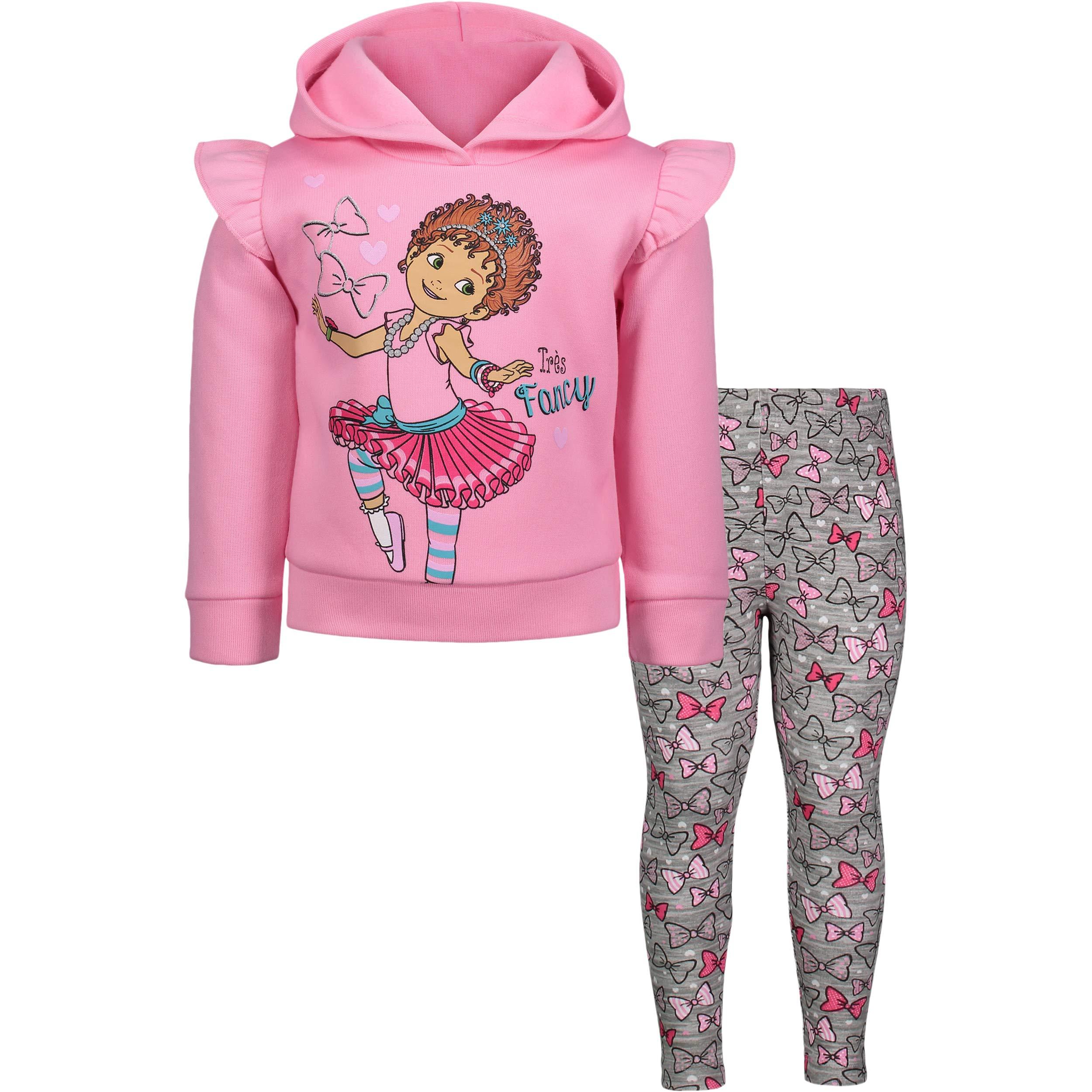 Disney Fancy Nancy Girls Fleece Pullover Hoodie and Leggings Set