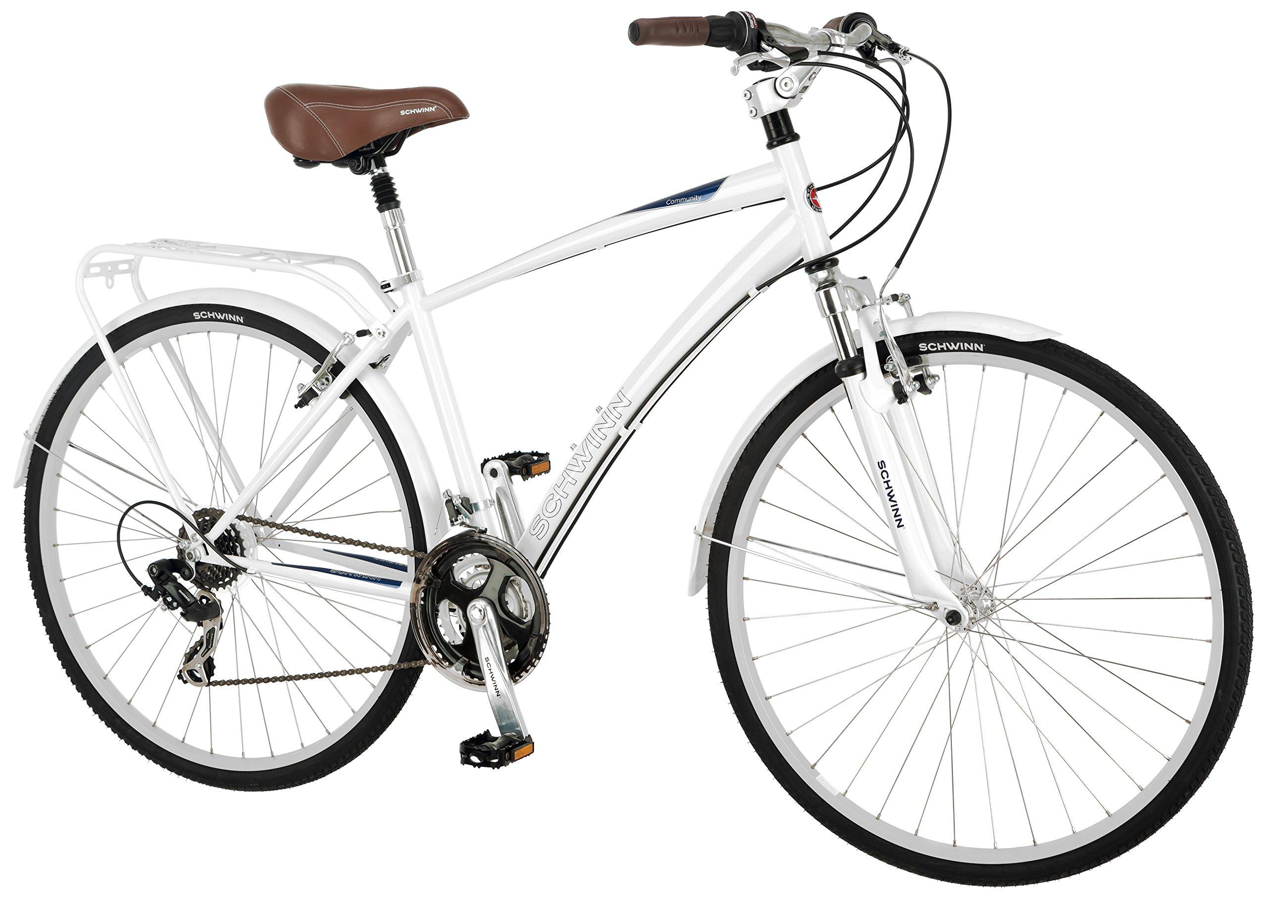 Schwinn Men's Community 700c Hybrid Bicycle, White, 18-Inch Frame by Schwinn (Image #2)