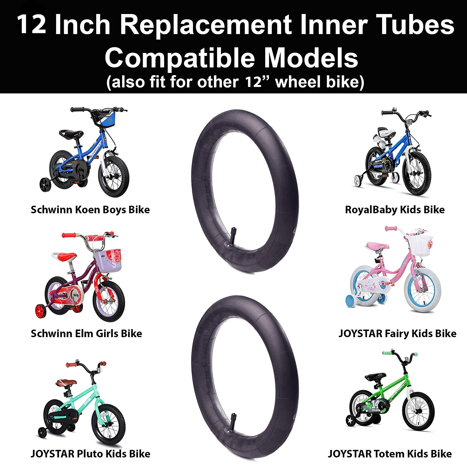 2 Pack 20/'/' x 1.72-2.125 Schrader Valve Bike Tubes for Most of Bicycles Wheels QKURT Bicycle Replacement Inner Tubes with Bike Tube Repair Kit