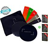 Thick Mini Booty Bands, Exercise Sliders, Abs Slider, Double-Sided Core Sliders Gliding Discs (Set of 2), Resistance Bands (Set of 5)