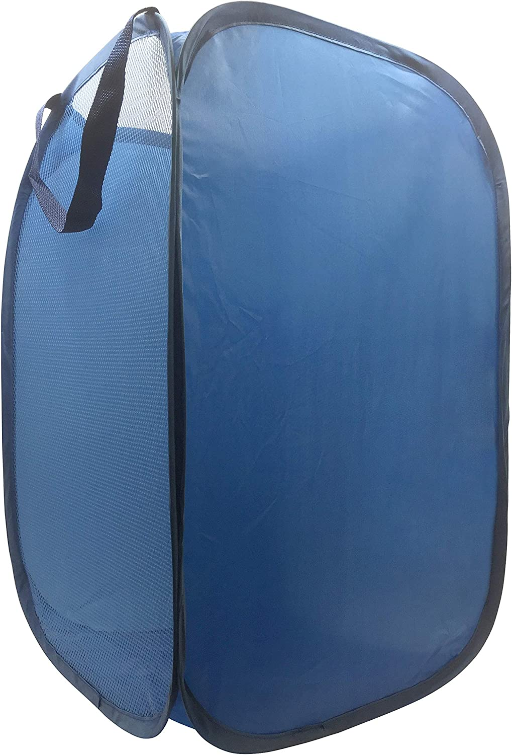"""Jay Franco Trend Collector Blue Pop Up Hamper - Mesh Laundry Basket/Bag with Durable Handles, 22"""" x 14"""""""